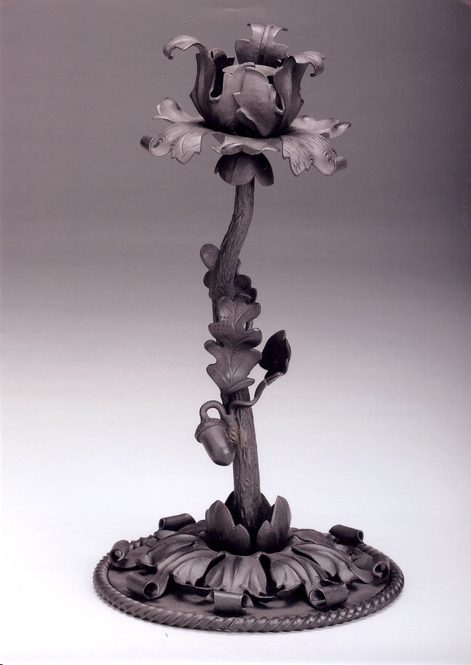 Candlestick. Based on motifs from the Pabst Mnsion Chandelier. Artist's collection.