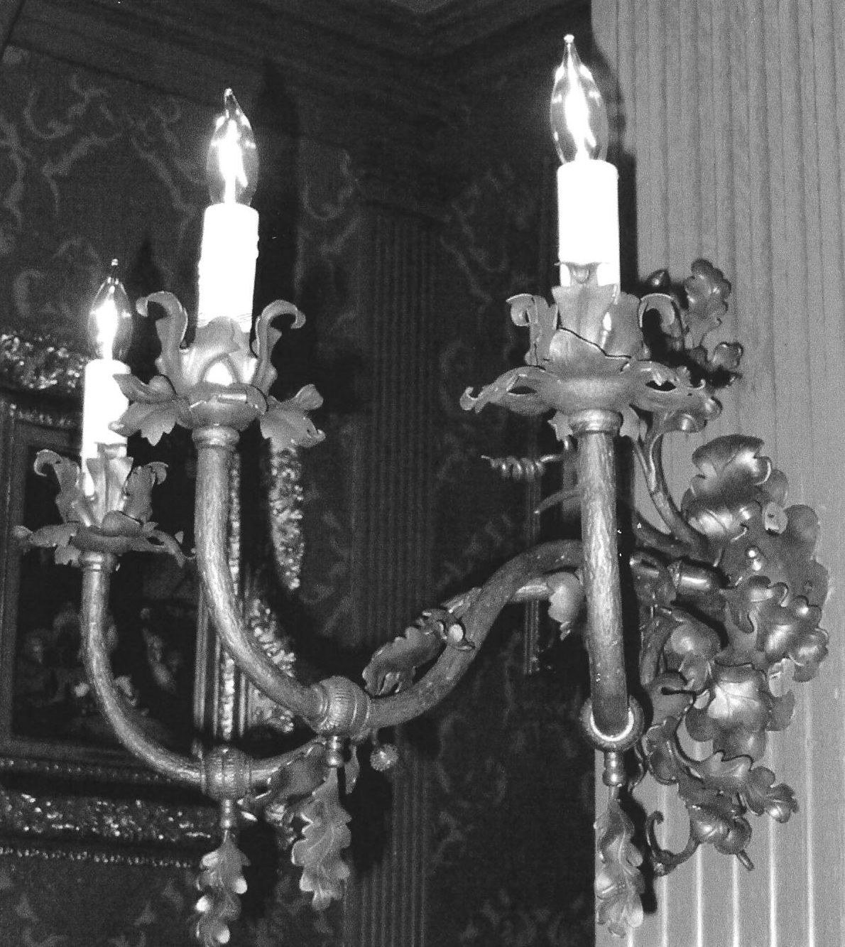Wall Sconce. To match the elk antler chandelier. Pabst Mansion, Milwaukee, WI.
