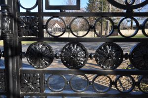 Gate detail- compound rosettes, 100 total