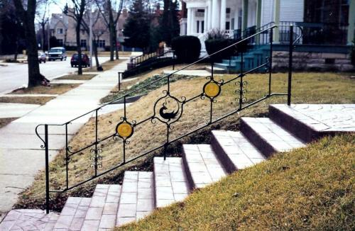 G Stained Glass Railing
