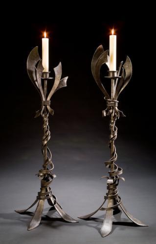 L Candlesticks Holy Famly GL