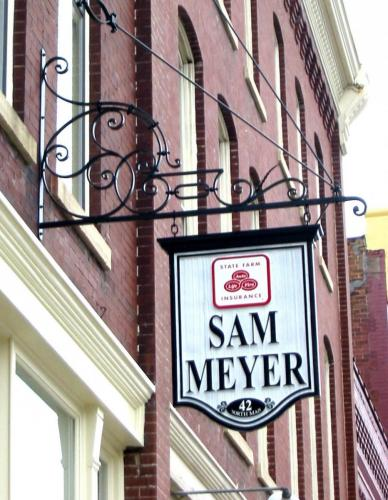 SIGN Sam Meyer sign