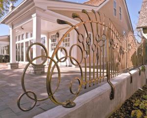 Bronze rail