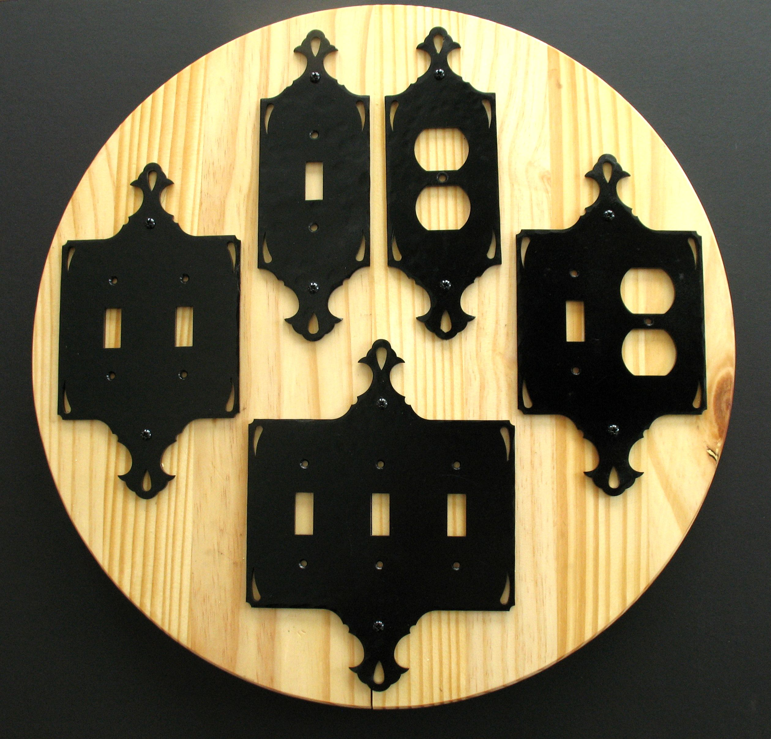 Decorative Iron Switch Covers